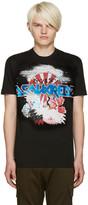 DSQUARED2 Black Graphic T-Shirt