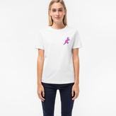 Paul Smith Women's White Small 'Dino' Print Cotton T-Shirt