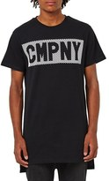 Topman Men's 'Cmpny' Step Hem Longline T-Shirt