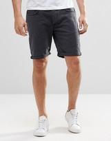 Selected Homme Black Denim Shorts