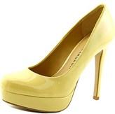 Chinese Laundry Wonder Women Open Toe Synthetic Yellow Platform Heel.
