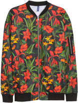 H&M Blouson Jacket - Black/red - Men