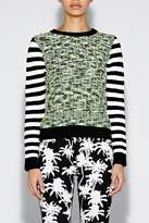 Nicole Miller Pineapple Herringbone Sweater