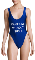 Can't Live without Sushi One Piece Swimsuit