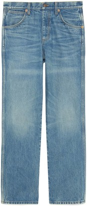 Gucci Marble washed denim trousers