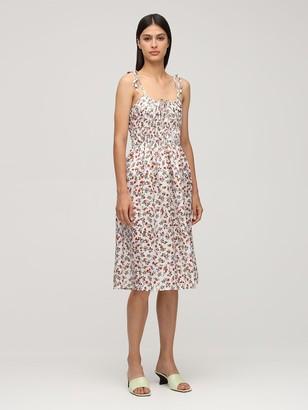 Ciao Lucia Evalina Print Silk Midi Dress