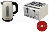 Swan Stainless Steel Kettle & 4 Slice Toaster Twin Pack - Cream