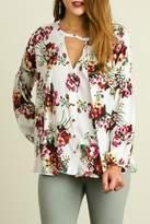 Umgee USA Floral Print Babydoll Top