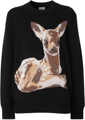 Burberry Deer Intarsia Sweater