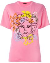 Versace Medusa oversized T-shirt - women - Silk/Spandex/Elastane/Viscose - 40