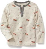 Old Navy Printed Thermal Henley for Toddler
