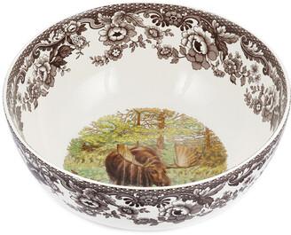 Spode Woodland Majestic Moose Round Salad Bowl