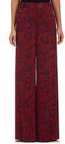 Erdem Women's Birte Floral Wide-Leg Pants-Burgundy