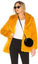 EAVES Gold Rush Faux Fur Coat