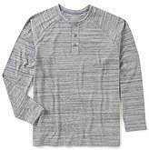 Roundtree & Yorke Soft Washed Long-Sleeve Slub Henley Tee