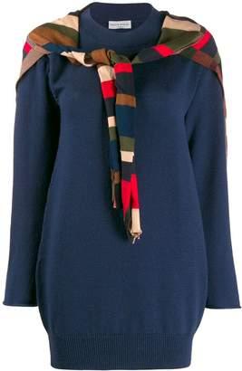 Sonia Rykiel striped tie front jumper