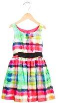 Junior Gaultier Girls' Watercolor Print Sleeveless Dress