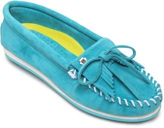 Minnetonka Suede Moc Boat Shoes - Kilty Plus