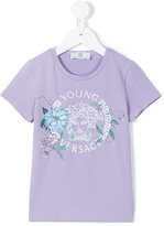 Young Versace - floral Medusa printed t-shirt - kids - Cotton/Spandex/Elastane - 4 yrs