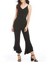 GB Cropped Flare Leg Jumpsuit