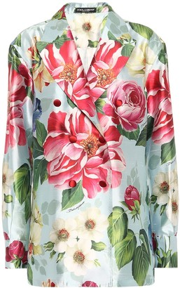 Dolce & Gabbana Floral silk blazer