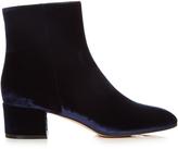 Gianvito Rossi Rolling block-heel velvet ankle boots