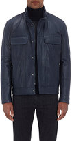 Isaia MEN'S LEATHER BOMBER JACKET