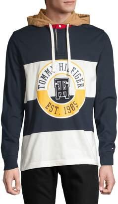 Tommy Hilfiger Colorblock Logo Drawstring Hoodie