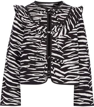 Ganni Faulkner Zebra-print Quilted Cotton Jacket