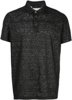 Calvin Klein Collection flocked polo shirt - men - Cotton/Linen/Flax - S