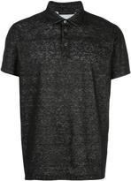 Calvin Klein Collection flocked polo shirt - men - Linen/Flax/Cotton - S
