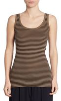Vince Striped Scoopneck Tank