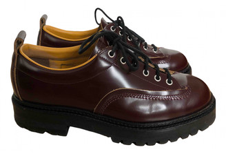 Marni Burgundy Leather Lace ups
