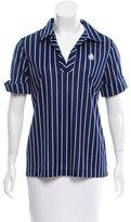 Lanvin Striped Polo Top