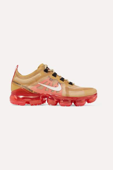 Nike Air Vapormax 2019 Ripstop And Mesh Sneakers - Gold