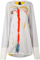 Bernhard Willhelm printed sweatshirt dress - women - Cotton - One Size