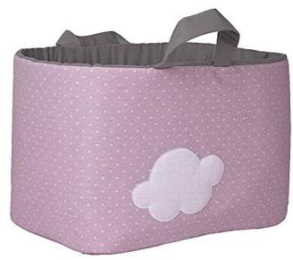 Camilla And Marc Funny Baby 623213 - juguetero Padded 30 x 45 x 27 cm, Design Spots and Cloud, Pink