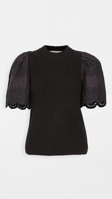 Sea Nadene Lace Combo Sweater