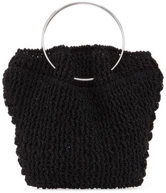 The Row Black Flat Micro Circle Bag