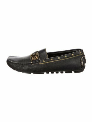 Louis Vuitton Monogram Goat Leather Loafers Black