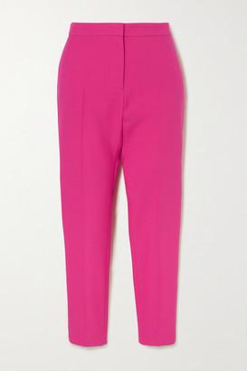 Alexander McQueen Cropped Wool-blend Slim-leg Pants - Pink