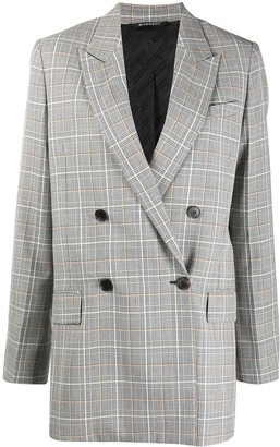 Givenchy Check-Pattern Double-Breasted Blazer