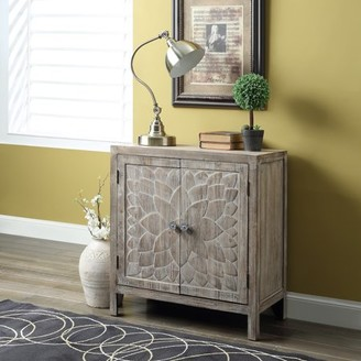Crestview Collection Dover 2-shelf Swing Door Cabinet, Antique Wood