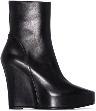 Ann Demeulemeester 125mm Wedge Ankle Boots