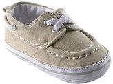 Luvable Friends Beige Sparkly Badge Sole Boat Shoe - Infant