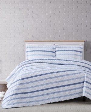 Truly Soft Waffle Stripe Twin Xl Duvet Set Bedding