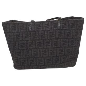 Fendi Roll Bag Black Wool Handbags