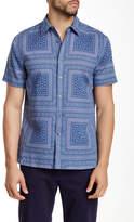 Perry Ellis Short Sleeve Paisley Square Shirt