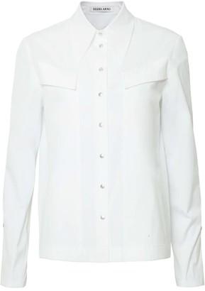 Diana Arno Alexa Pointed Collar White Shirt