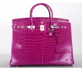 Hermes pristine (PR Rose Scheherazade Porosus Crocodile 40cm Birkin Bag